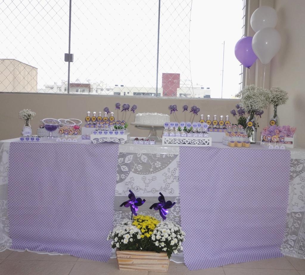 decoração festa princesinha sofia
