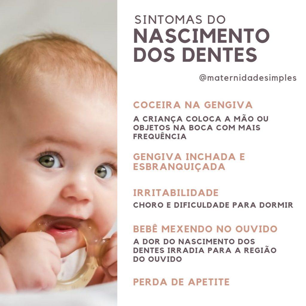 sintomas nascimento dos dentes do bebê
