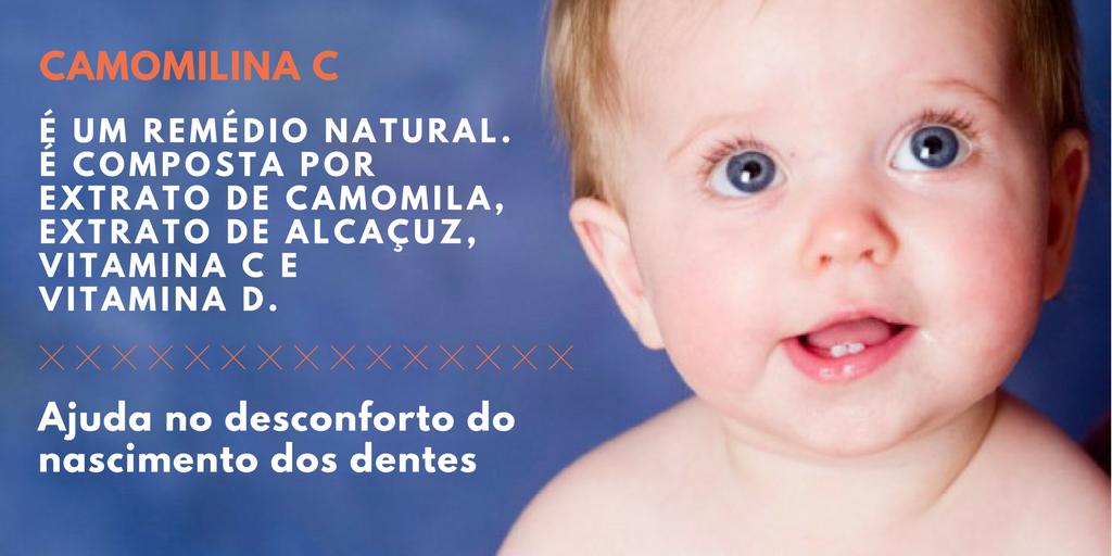 Camomilina C para dor dos dentes do bebê