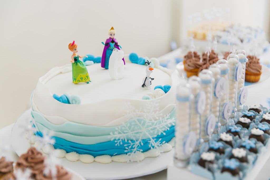 bolo festa frozen