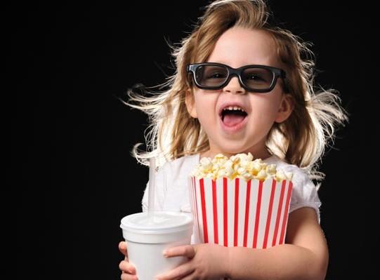 primeira vez da criança no cinema