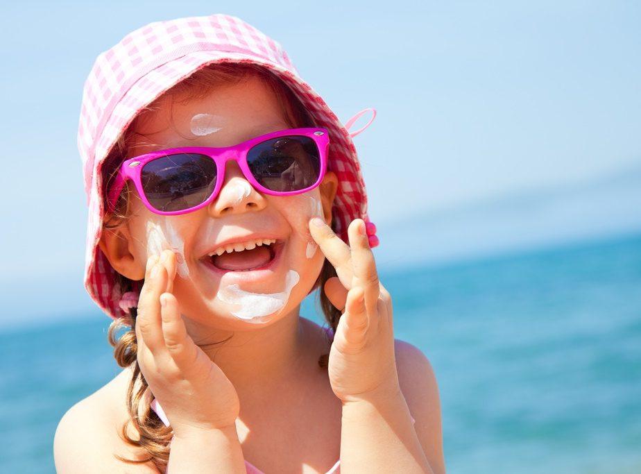filtro solar nas crianças depois da praia