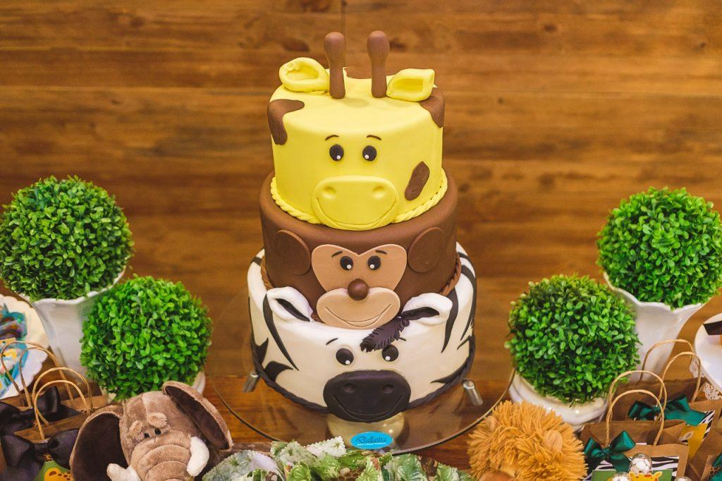 bolo aniversário safari
