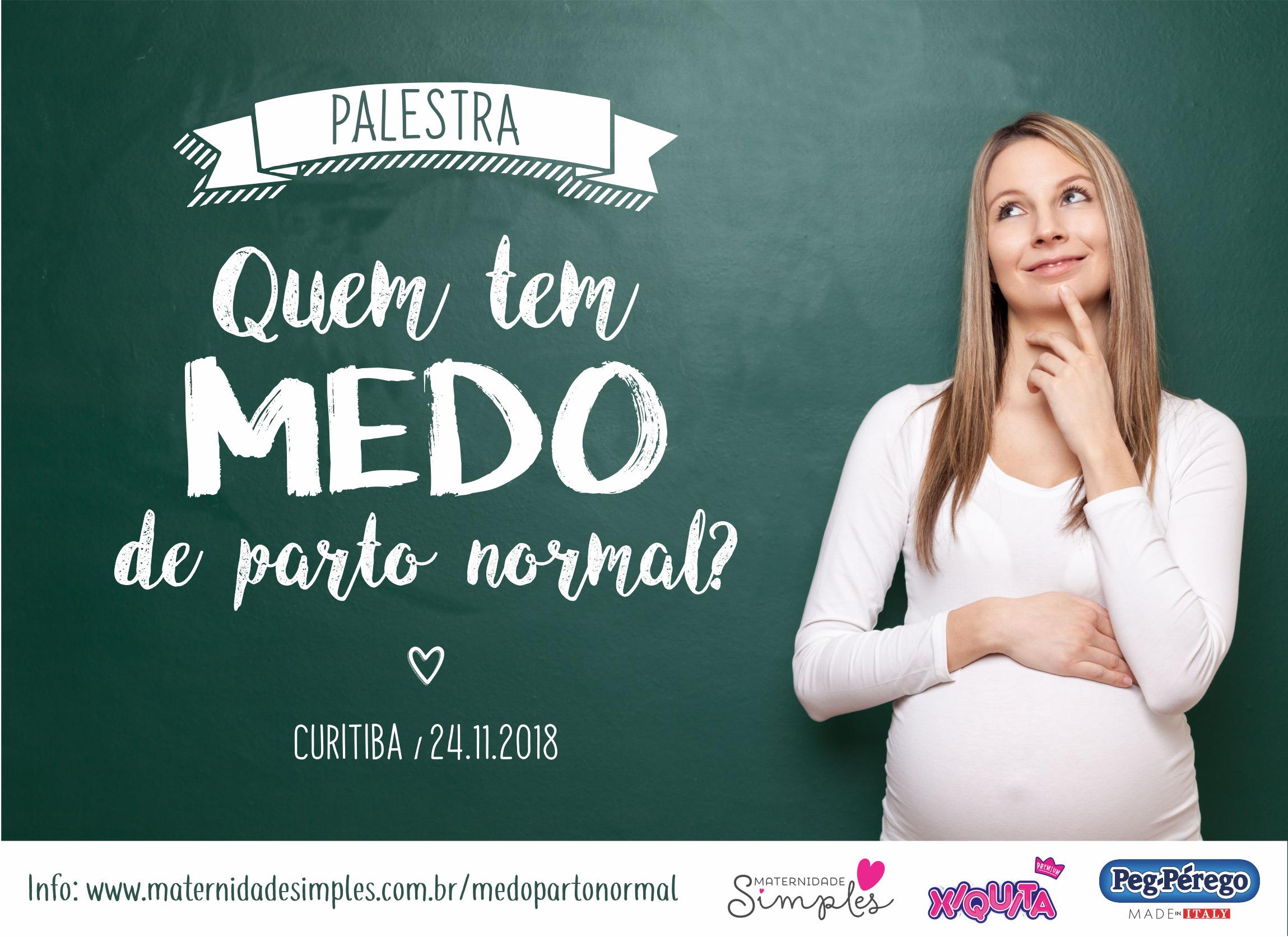"""Palestra """"Quem tem medo de parto normal"""", em Curitiba"""