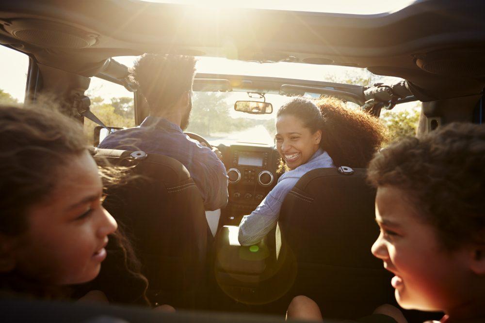 viajar de carro com crianças