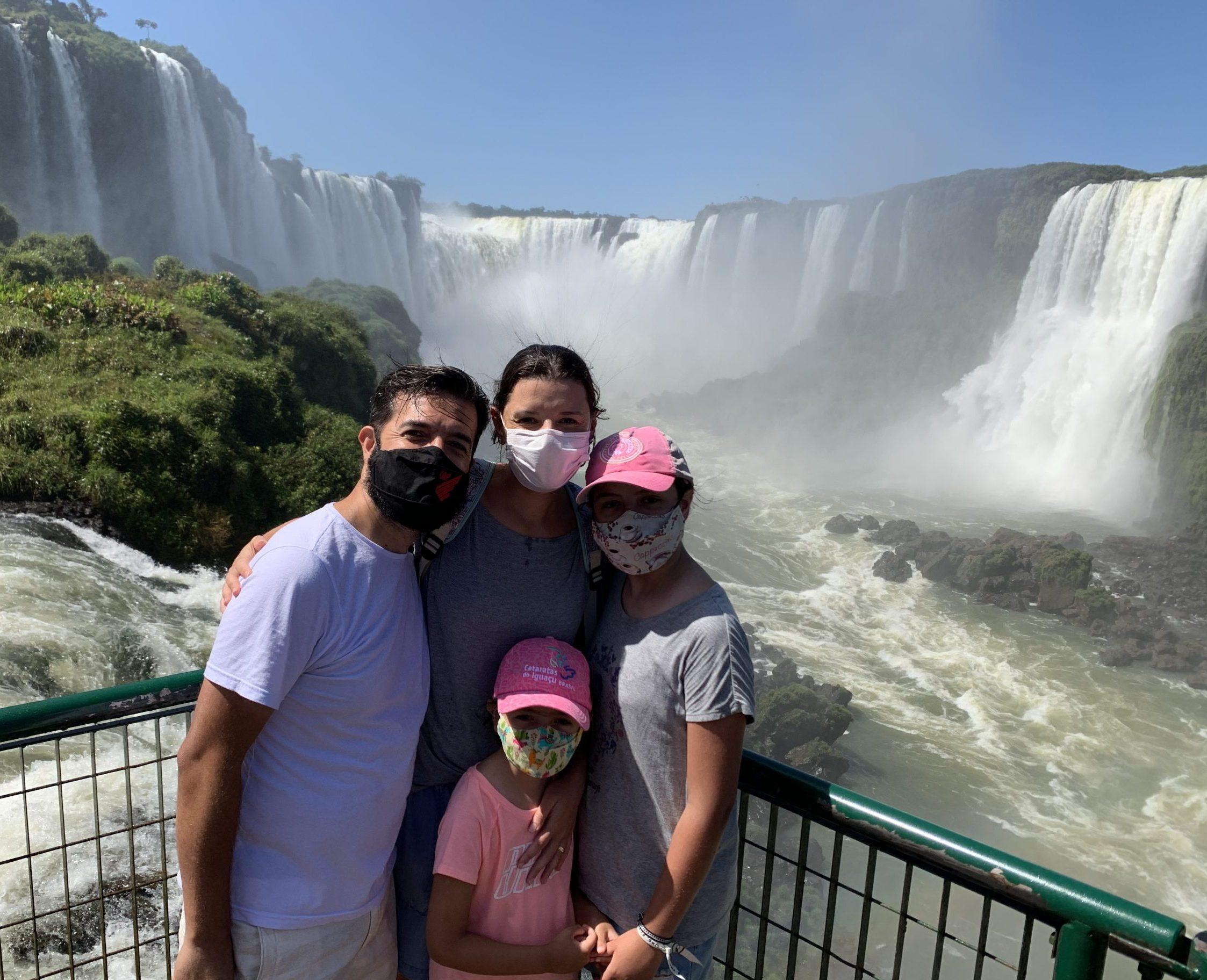 Foz do Iguaçu com as crianças