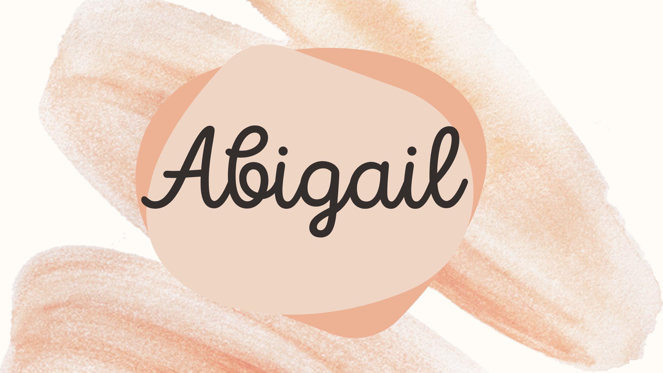 significado do nome abigail