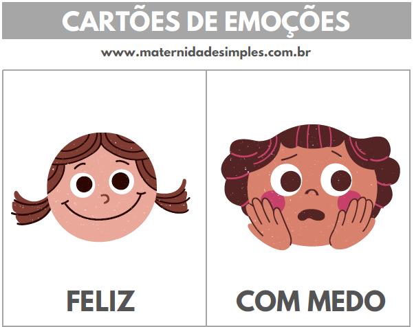 cartões de emoções educação emocional 1