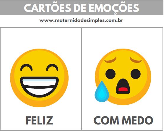 cartões de emoções educação emocional 2